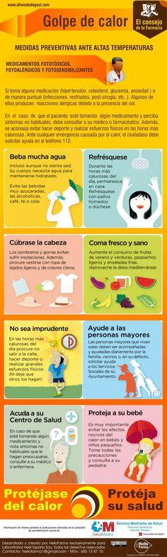 Medidas para prevenir con éxito un golpe de calor. #salud #calor #tips