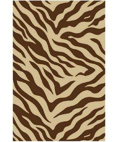 Zebra Area Rug - Brown - Area Rugs at Hayneedle