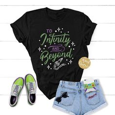 To Infinity And Beyond - Toy Story Shirt - Magical Glitter Shirt Cute Disney Outfits, Disney World Outfits, Disney Inspired Outfits, Disney Style, Cute Outfits, Disney Fashion, Disney Clothes, Disneyland Outfits, Themed Outfits