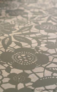 Goodbye Carpet, Hello Stenciled Floor With Annie Sloan Chalk Paint :: Hometalk Painting Tile Floors, Painting Concrete, Stencil Painting, Tile Stencils, Stenciled Concrete Floor, Painted Concrete Floors, Painted Floorboards, Concrete Finishes, Plywood Floors