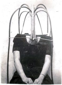 Circus Side Show photograph of the headless girl illusion