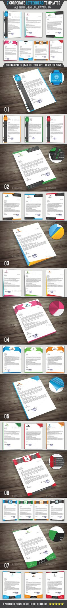 Letterhead Template EPS INDD PSD MS