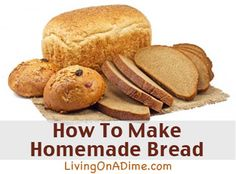 I love this recipe! Looking for ways to make homemade bread easier? IT'S MUCH EASIER THAN YOU THINK! You can make these fresh breads at home in a few minutes for less than 50 cents a loaf. Click here to get this yummy #recipe from Dining On A Dime Cookbook http://www.livingonadime.com/store/dining-on-a-dime-cookbook/.