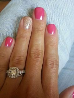 84 Simple Summer Nail Designs Nail Colors For 2019 Are you looking for popular bright summer nail color designs See our collection full of popular bright summer nail color designs 2018 and get inspired! Fancy Nails, Love Nails, Pink Nails, My Nails, Summer Shellac Nails, Pretty Nails, Pink Pedicure, Shellac Nail Colors, Summer Nail Polish