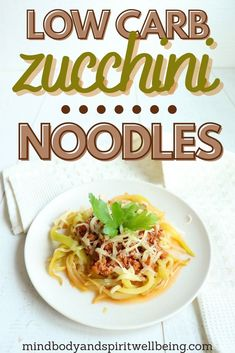 These keto bolognese zucchini noodles are the perfect addition to your slim down diet and easy sugar detox plan for effective slimming! Reset your taste buds and change your nutritional psychology with these easy low carb zoodles - perfect for going gluten free for beginners and one of my most favorite healthy food suggestions! Find out the best way for preserving zucchini noodles and add them to your menopause diet weightloss plan to boost your energy! #zoodles #zucchininoodles #ketopasta