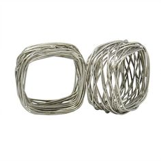 24 Pcs Party Pack Square Metal Wire Mesh Napkin by UltimaDecor, $36.00