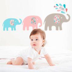 for walls Wandaufkleber Babyelefanten. #wandtattoo #elefanten #kinderzimmer #babyartikel.de