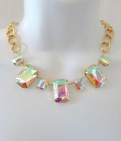 Aurora Borealis Statement Necklace --- such a cool necklace!