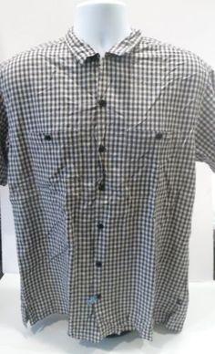 Ralph-Lauren-Polo-Jeans-Co-Plaid-Short-Sleeve-Button-Front-Shirt-Size-M