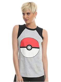 2143ff704018a2 Can t decide between a Pokeball graphic tank top or a Pikachu and Pokeball  print
