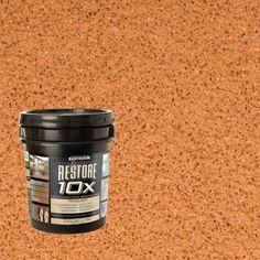 Restore 4-gal. Cedartone Deck and Concrete 10X Resurfacer-46516 at The Home Depot