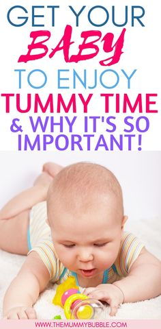 Does your baby cry at tummy time? Top tips for getting your baby to enjoy tummy time. Here's why tummy time is so important for your baby and ways you can get your baby to enjoy it every day Newborn Baby Tips, Newborn Care, Baby Shower Activities, Infant Activities, Family Activities, Learning Activities, Parenting Teenagers, Parenting Hacks, Single Parenting