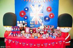 boy's London, England birthday party sweets table www.spaceshipsandlaserbeams.com