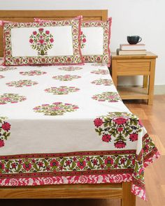 db0a6fa328 Floral Double bedsheet with pillow set. #fabric #homedecor #homedesign # print #