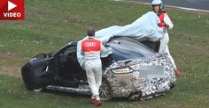"""Audi Crashed A 2017 TT RS Prototype On The """"Ring #Accidents #Audi"""