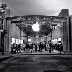 Apple Store At Night, Palo Alto
