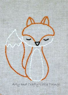 1000 Ideas About Fox Embroidery On Pinterest