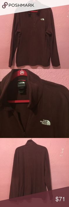 Men's North Face fleece pullover. Wine Men's North Face fleece pullover Wine The North Face Shirts Sweatshirts & Hoodies