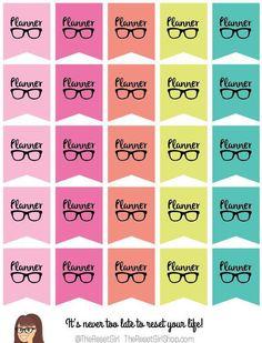 TheResetGirlShop - Cutie Planner Nerd Banners, $4.50 (http://theresetgirlshop.com/stickers/shop-all-stickers/preorder-cutie-planner-nerd-banners/)