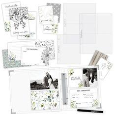 Scrapbook.com - Simple Scrapbooks - Wedding - Complete Kit with White Album Scrapbooking Layouts, Scrapbook Pages, Wedding Scrapbook, Memory Books, Wedding Album, Simple Weddings, Scrapbooks, As You Like, Dream Wedding