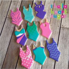 """Annaleah Manipon on Instagram: """"Suits for some bathing beauties on a triple digit day! #pool party #swimsuitcookies #poolpartycookies #bathingsuitcookies #swimsuit…"""""""