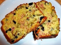 Cake aux olives et au jambon Cake Aux Olives, Un Cake, Food To Go, Starters, Entrees, Buffet, Baking, Breakfast, Quiches