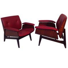 Pair of Ico Parisi armchairs.