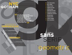 Font Study: Gotham on Behance Gotham Nyc, Gotham Font, Typography Logo, Graphic Design Typography, Lettering, Type Anatomy, Type Design, Fonts, Study
