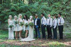 Rustic-Bohemain Wedding in the Redwood Forest: Ashley + Cheyne