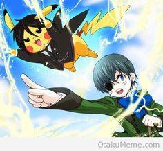 Sebastian-chu!  I choose you! (I got a kick out of this. Lol)