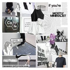 """black hole"" by miniatureminimalist ❤ liked on Polyvore featuring moda, Talli, Yumi, Assouline Publishing, Serfontaine, Cynthia Rowley, H&M e yeswalker"