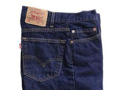 68c3ebe9387 Levis 505 Vtg Denim Made in USA Mens Jeans Regular Fit Straight Leg 34 x 33