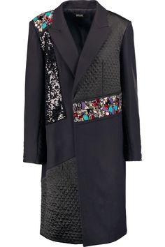 DKNY Embellished Paneled Wool-Blend Coat. #dkny #cloth #coat