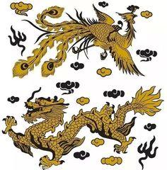 精美的中国传统龙凤呈祥纹案艺术(二)