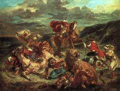 Eugene Delacroix, Lion Hunt, 1861