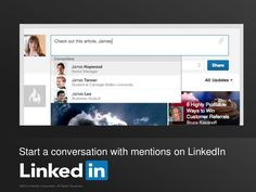 Start a Conversation with Mentions on LinkedIn