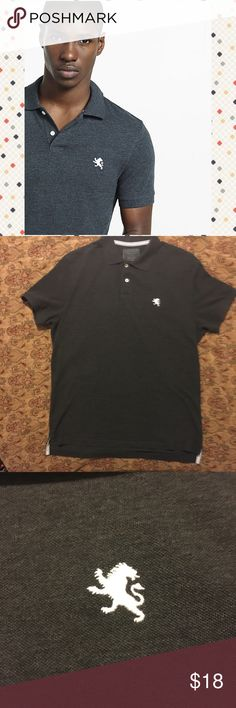 EUC Express Small Lion Modern Fit Polo EUC Express Small Lion Modern Fit Pique Polo. Large. Like new. Dark gray. Great shirt at an awesome. Cover photo for reference only. Bundle and save! I accept reasonable offers. From a smoke free 💨🚫, pet friendly 🐶 🐱 🐦 home 🏡. Express Shirts Polos