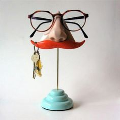 571ceea349f9 Nose   Stashe Glasses and Key Stand. MustacheKey HooksSpecsEye GlassesEyeglass  HolderDesk AccessoriesEyewearDisplaySunglasses