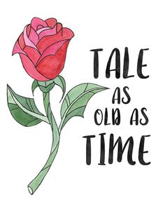 Tale As Old As Time Art Print beauty and the by MenagerieMagique