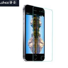 Super HD Screen Protector Glass Film For iPhone 4 4S 5 5S 5C SE 6 6S 7 7S Plus , Tempered Glass Film For Mobile Phone 5 5S 5C SE