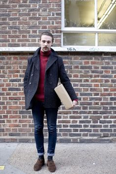 Polo neck and handlebar, London | THE STYLE SNIP