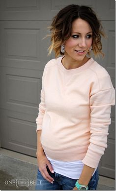 pastels, comfy Spring maternity style- ONE little MOMMA