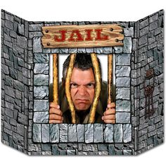 Visit the Big House with this western themed Jail Photo Prop. Each 37 wide x 25 high Jail Photo Prop is prefect for both kids and adults. Simply stand the cardstock western jail photo prop on a table, counter or bar and your ready to capture all Party Shop, House Party, Cowboy Party Decorations, Western Decorations, Halloween Decorations, Western Party Supplies, Photo Props, Photo Booth, Wild West Cowboys