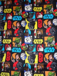 Star Wars Character Cotton Fabric BTY by JinsQualityFabric on Etsy