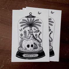 Inspiration: sick postcards from @bene_rohlmann #design #illustrator #illustration #tshirtprinting #inspiration #offer #skull #ink #blackandwhite #screenprinting #printing #artist #appreciation #follow #thursday