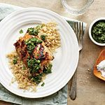 Grilled Chicken Thighs with Cilantro-Mint Chutney Recipe | MyRecipes.com