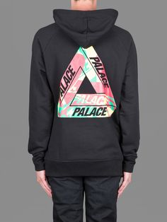 Palace Skateboards hoodie with wave rasta back print #palace #palaceskateboards