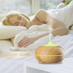 300ml Cool Mist Ultrasonic Humidifier, VicTsing Wood Grain Essential Oil Diffuser with 4 Timer Settings, 10 Hours Continuous Mist, 7 Color Changing LED Lights, Waterless Auto off Air Purifiers for Office, Spa, Baby Room, Etc: Amazon.co.uk: Health & Personal Care