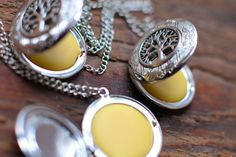 diy solid perfume lockets - makes great stocking stuffers!