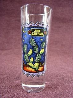 Barware Shot Glass Tequila Jose Cuervo Colorful by TKSPRINGTHINGS $6.95
